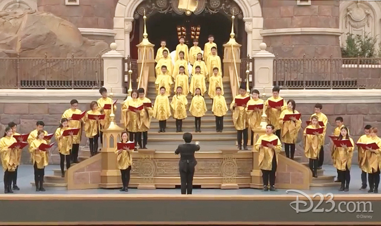 Chinese choir sings at Shanghai Disneyland
