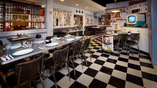 inside Disney's 50's Prime Time Cafe