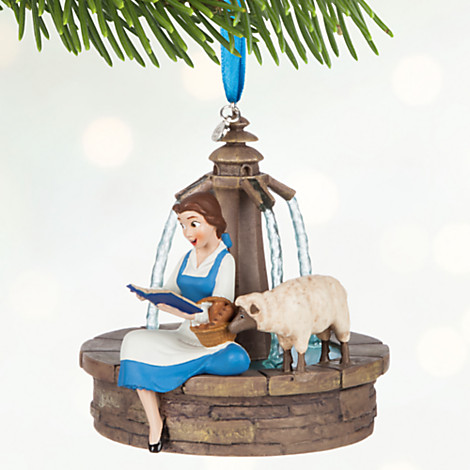 Belle & Book Disney Ornament
