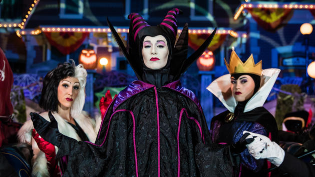 Disney Villains at Halloween Party