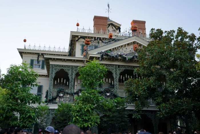 haunted mansion during halloween
