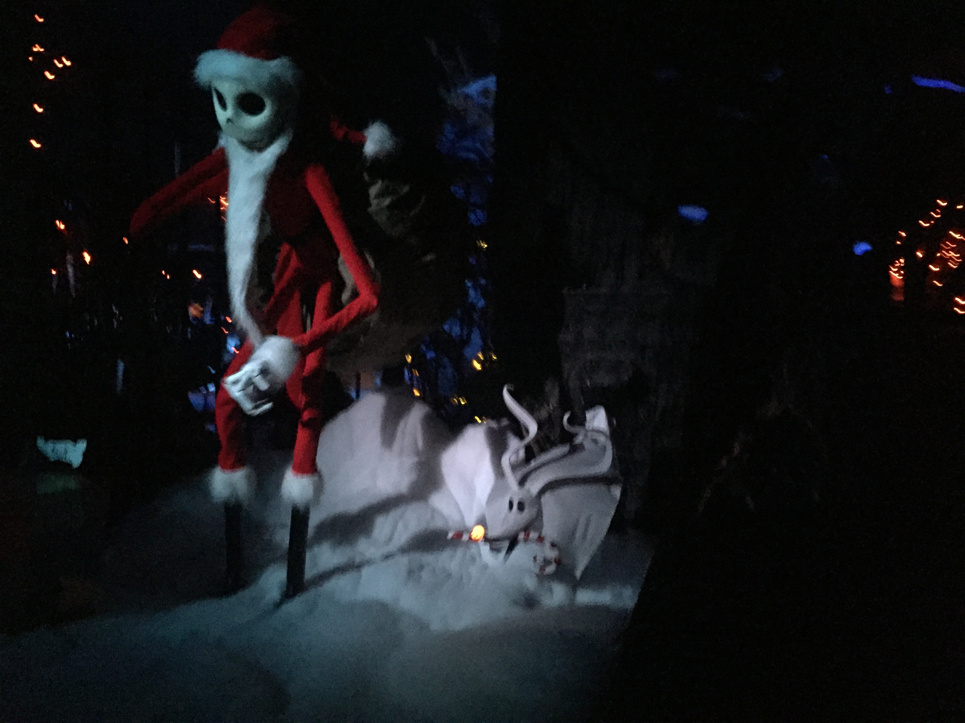 Jack Skellington Dressed as Santa