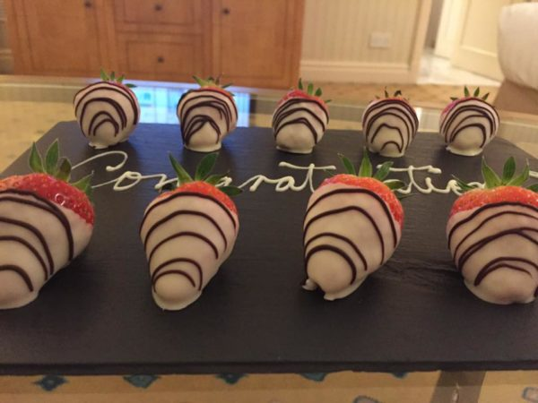 Celebrating at the Landmark London Hotel
