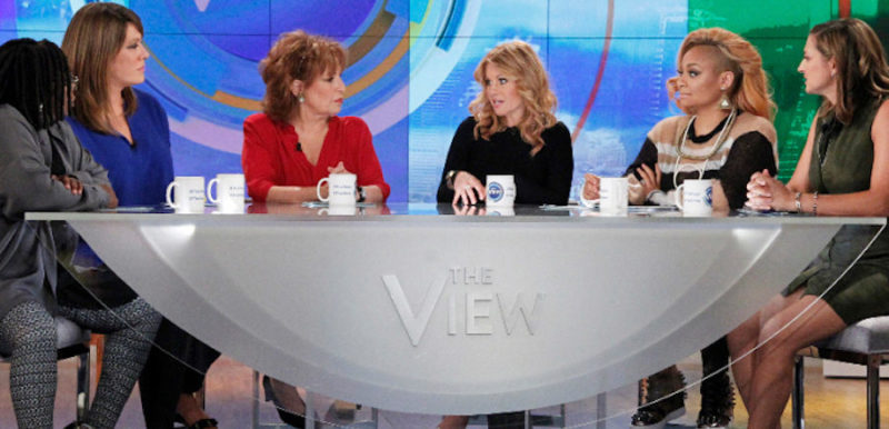 "THE VIEW - The new season of ABC's ""The View"" premiered today, Tuesday, September 8, 2015. ""The View"" airs Monday-Friday (11:00 am-12:00 pm, ET) on the ABC Television Network. (ABC/Lou Rocco) WHOOPI GOLDBERG, MICHELLE COLLINS, JOY BEHAR, CANDACE CAMERON BURE, RAVEN-SYMONE´, PAULA FARIS"