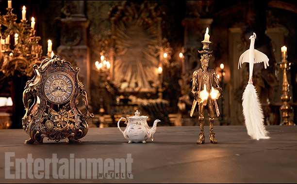 Lumiere and Cogsworth live action